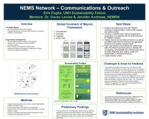 NEMS Network Communications Outreach Erin Puglia UNH Sustainability