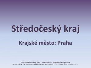 Stedoesk kraj Krajsk msto Praha Zkladn kola Nov
