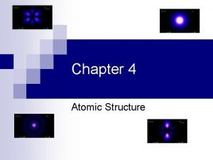 Chapter 4 Atomic Structure Early Atomic Theory n