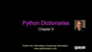 Python Dictionaries Chapter 9 Python for Informatics Exploring