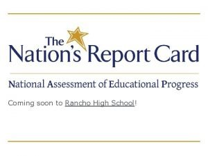 Coming soon to Rancho High School What is