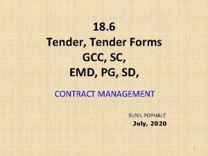 18 6 Tender Tender Forms GCC SC EMD