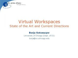 Virtual Workspaces State of the Art and Current