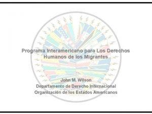 Programa Interamericano para Los Derechos Humanos de los