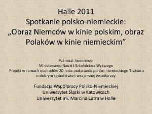 Halle 2011 Spotkanie polskoniemieckie Obraz Niemcw w kinie