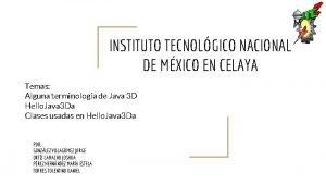 INSTITUTO TECNOLGICO NACIONAL DE MXICO EN CELAYA Temas