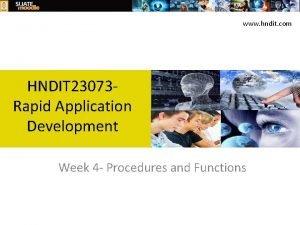 www hndit com HNDIT 23073 Rapid Application Development