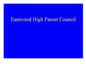 Eastwood High Parent Council The Proposal To build