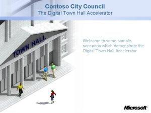 Contoso City Council The Digital Town Hall Accelerator