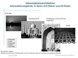Informationsarchitektur Informationsangebote in denen sich Nutzer zurecht finden