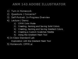 ANM 143 ADOBE ILLUSTRATOR 1 2 3 4