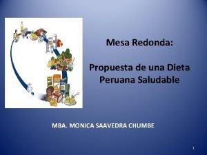Mesa Redonda Propuesta de una Dieta Peruana Saludable