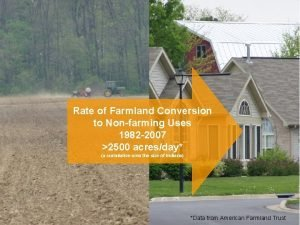 Rate of Farmland Conversion to Nonfarming Uses 1982