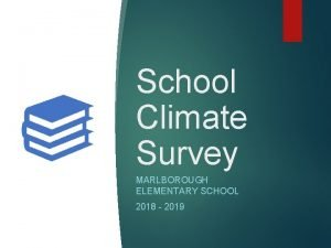 School Climate Survey MARLBOROUGH ELEMENTARY SCHOOL 2018 2019