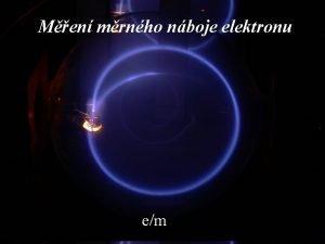Men mrnho nboje elektronu em Josef Dokal GCHD