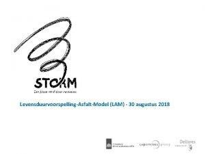 LevensduurvoorspellingAsfaltModel LAM 30 augustus 2018 Hoofdredeneerlijn innovatie LAM