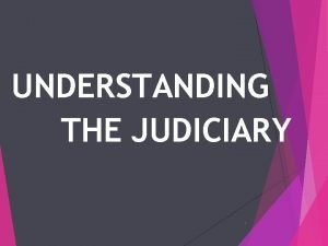 UNDERSTANDING THE JUDICIARY 1 INTRODUCTION TO THE FEDERAL
