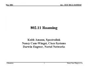 May 2004 doc IEEE 802 11 040503 r