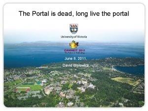 The Portal is dead long live the portal