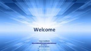 Welcome Tony Craddock tony craddockemergingpayments org EPAssoc Tony