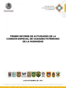 PRIMER INFORME DE ACTIVIDADES DE LA COMISIN ESPECIAL