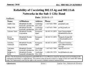 January 2018 doc IEEE 802 19 180006 r
