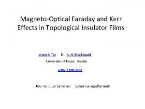 MagnetoOptical Faraday and Kerr Effects in Topological Insulator