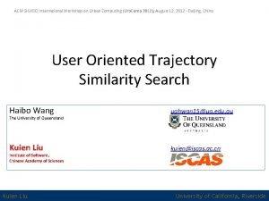 ACM SIGKDD International Workshop on Urban Computing Urb
