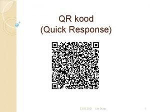 QR kood Quick Response 22 02 2021 Liia