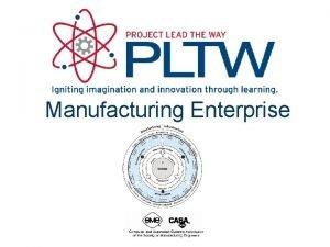 Manufacturing Enterprise Manufacturing Enterprise This presentation discusses Manufacturing
