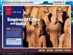 Empires of China and India Section 1 Empires