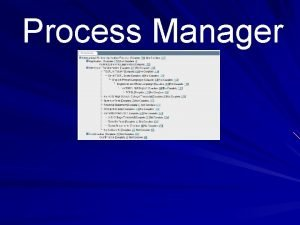 Process Manager What is the Process Manager Online