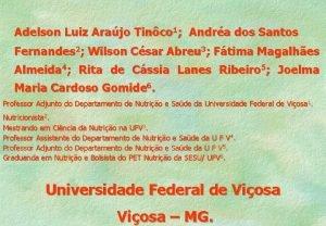 Adelson Luiz Arajo Tinco 1 Andra dos Santos