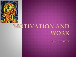1 Motivational Concepts Instincts and Evolutionary Psychology Drives