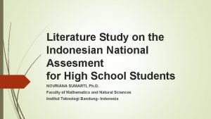 Literature Study on the Indonesian National Assesment for