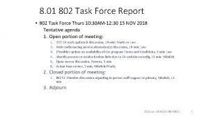 8 01 802 Task Force Report 802 Task