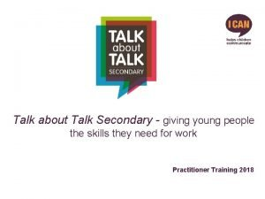 Talk about Talk Secondary giving young people the