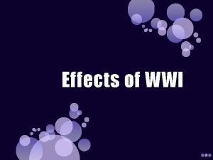 Effects of WWI Flu Epidemic September 1918 a