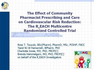 The Effect of Community Pharmacist Prescribing and Care