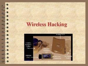 Wireless Hacking Wireless LANs and footprinting Wireless LANs
