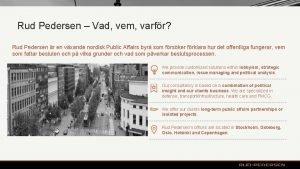 Rud Pedersen Vad vem varfr Rud Pedersen r