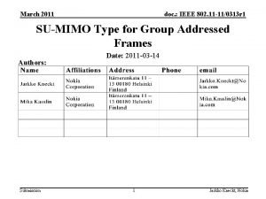 March 2011 doc IEEE 802 11 110313 r