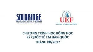 CHNG TRNH HC BNG HC K QUC T