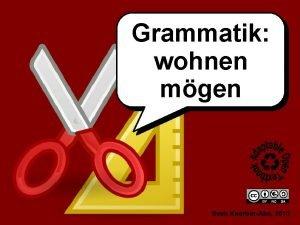 Grammatik wohnen mgen Sven KoerberAbe 2013 wohnen mgen