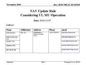 November 2016 doc IEEE 802 11 161423 r