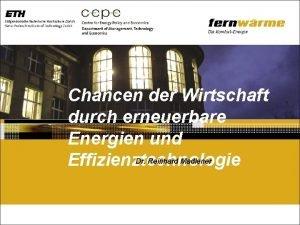 Chancen der Wirtschaft durch erneuerbare Energien und Dr