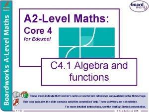 A 2 Level Maths Core 4 for Edexcel