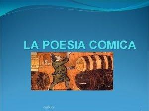 LA POESIA COMICA CANANA 1 I LUOGHI IL