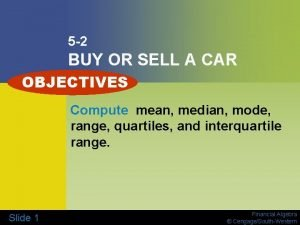 5 2 BUY OR SELL A CAR OBJECTIVES