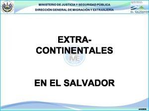 INTRODUCCIN Los flujos de personas extranjeras extracontinentales que